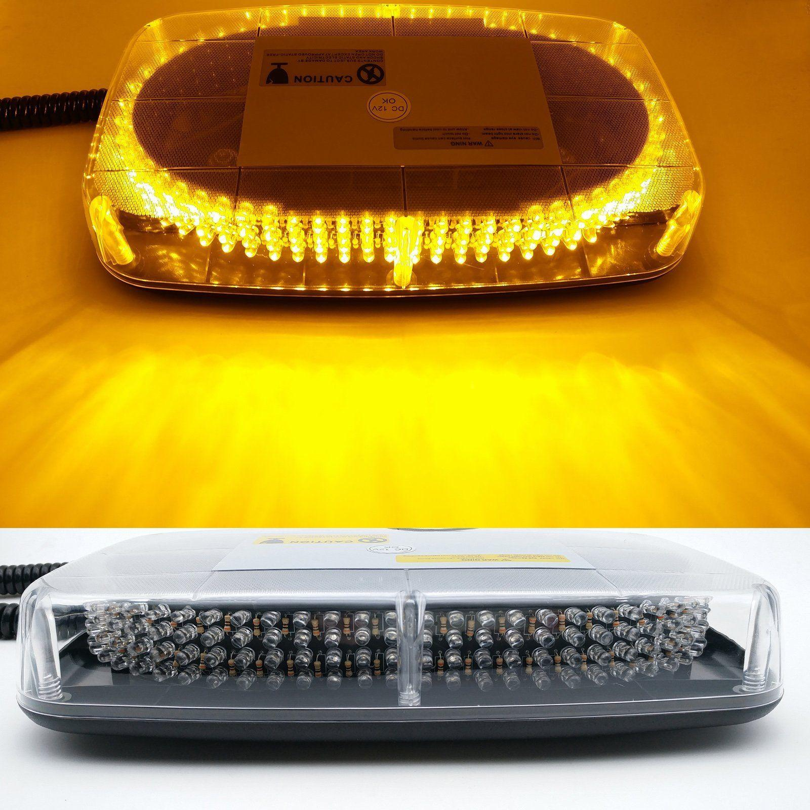 240 LEDs Barra de luces Techo superior Amarillo ámbar Baliza de emergencia Advertencia Flash Luz estroboscópica de advertencia