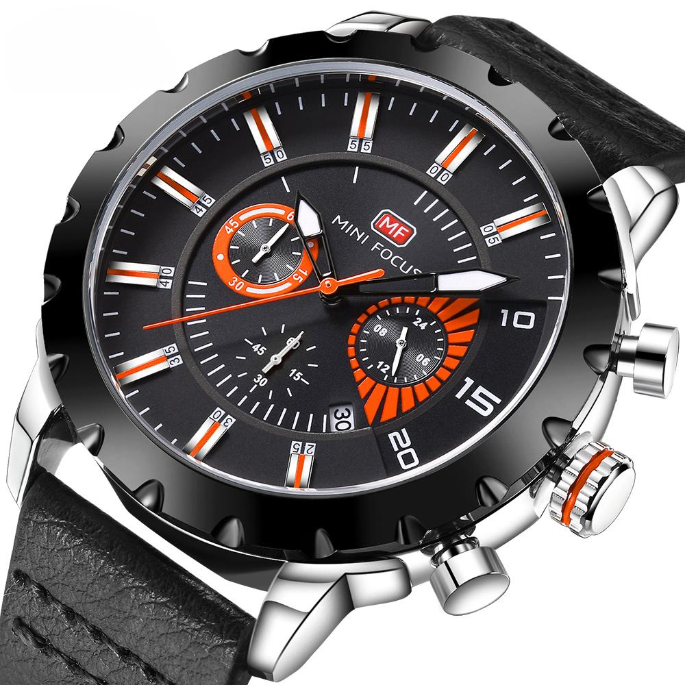 Watches Devoted Men Army Military Leather Watch High Quality Luxury Luminous Wrist Watch Sport Mens Quartz Clock Relogio Masculino