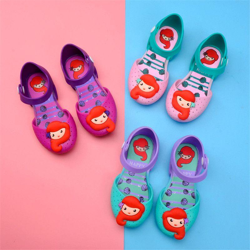 Kids Girls Mini Melissa Sandals Children Cute Cartoon Unicorn Owl Jelly  Rainbow Brethable Holes Shoes Summer Pricess Dress Beach Sandals Online  with ... b1d87ec224ed