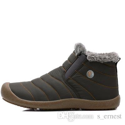 Homens Sapatos de Neve de Inverno Ankle Boots Leve Botas de Chuva Dos Homens À Prova D 'Água Quente 2016 Novos Sapatos Furry Botas Para Homens C # 002
