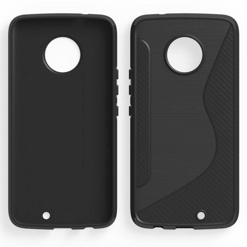 Custodia Slim Armor NS Line da 1.3mm LG Q6 V30 / V30 Plus Motorola Moto X4 Z2 Custodia Cover rigida TPU HTC U11 Plus U11 Life in fibra di carbonio