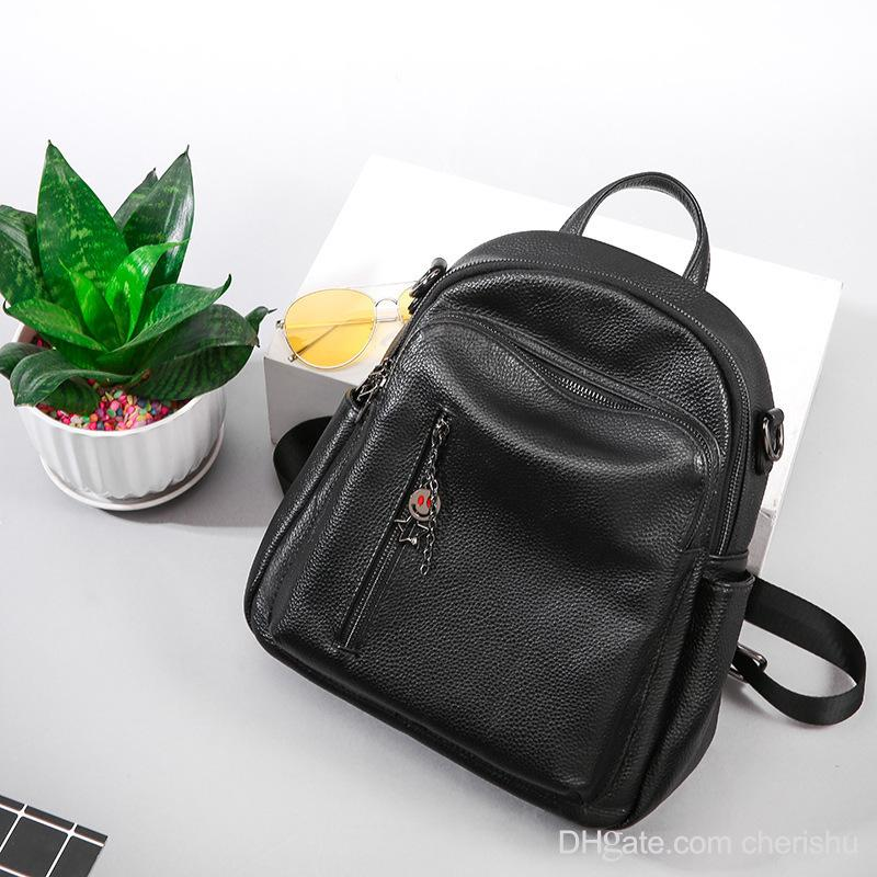12524a330 High Quality Summer Head Layer Cowhide Both Shoulders Handbags Fashion Fresh  Travel Backpack Woman Capacity Multipurpose Woma Designer Bags Side Bags ...