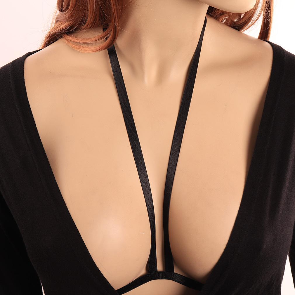 b615893046 2019 Body Harness Cage Bra Goth Hollow Lingerie Black Strappy Plus Size  From Jiangfengzongya