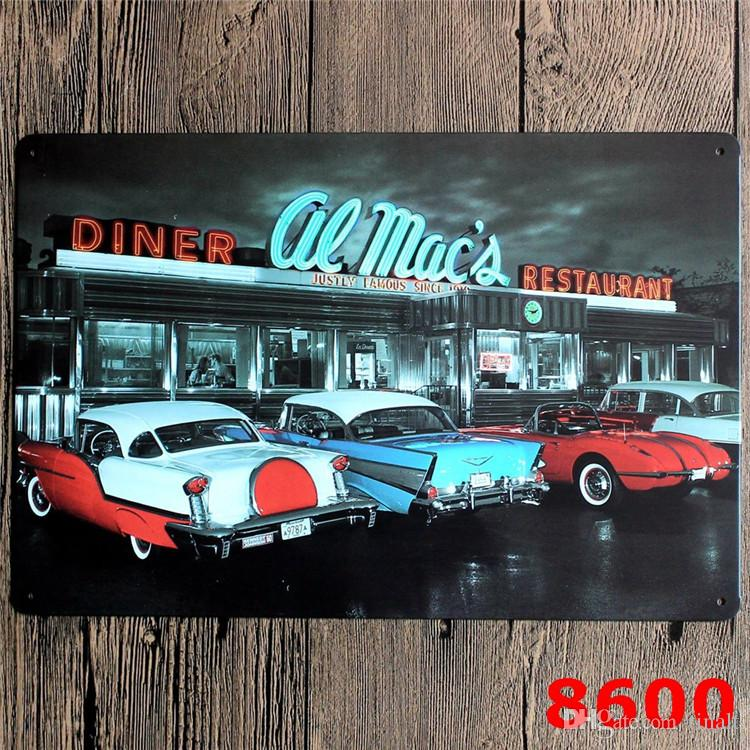20*30cm metal Sign Poster Pub Bar Cafe Home Wall Iron skin painting 7 styles Modern Decor Car design Art Poster T3I0166