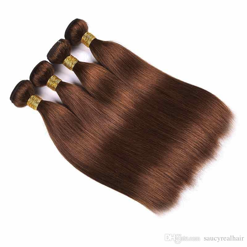 3 or 4 Bundles Elibess Peruvian Hair Weave 8-32 inch Cuticle Aligned Human Hair Extensions Dyeable Double Wefts ,Free DHL