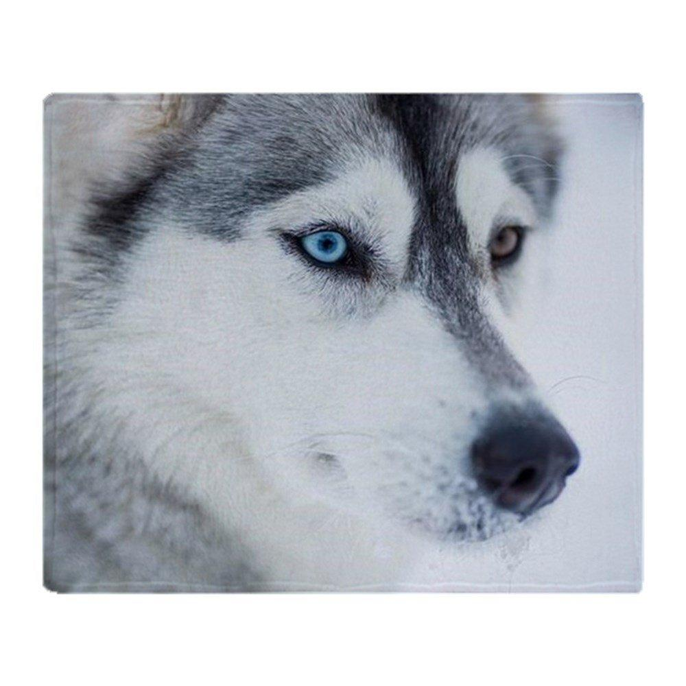 Siberian Husky Dog Closeup Portrait Soft Fleece Throw Blanket Fleece