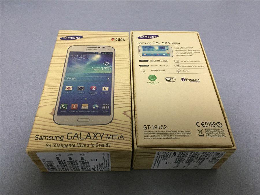 改装されたオリジナルサムスンギャラクシーメガ5.8 I9152デュアルシム5.8インチデュアルコア8GB ROM 8MP 3Gネットワークのロック解除されたAndroid携帯電話無料DHL 1ピース