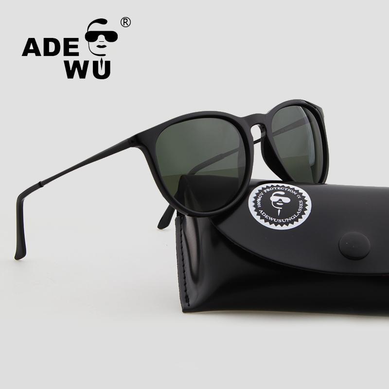 48860cea6 Compre Adewu Óculos De Sol Das Mulheres Dos Homens Polarized Marca Designer  Oval Pequeno Quadro Feminino / Masculino Óculos De Sol Com Caixa G15  Polaroid ...
