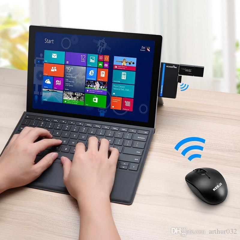 2.4G Rato Sem Fio Portátil Móvel Ratos Ópticos com Receptor USB 1600 DPI para Andriod caixa de tv Notebook PC Computador Portátil