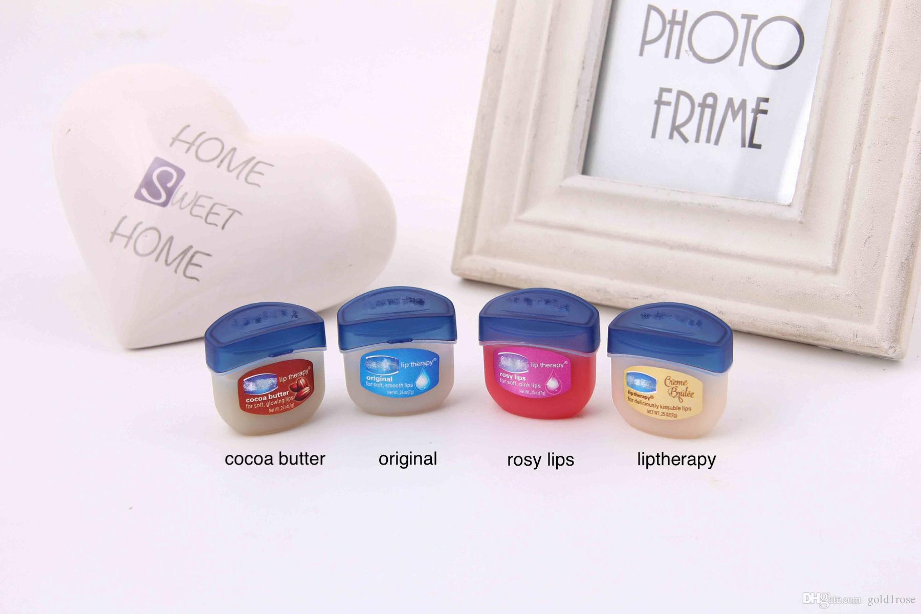 Promotionnew Makeup Vaseline Lip Therapy Cocoa Butter For Soft Rosy 7g Original Usa 100 New Glowing Lips Hydrating Petroleum Jelly Moisturizing Balm Cream Chapstick Tubes Clear