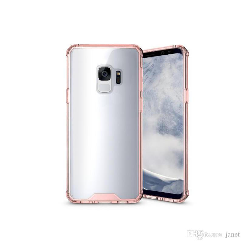 Wholesale items For Samsung S9 Case Clear Hybrid Soft TPU Bumper Back Cover Case For Samsung S9 S9 plus