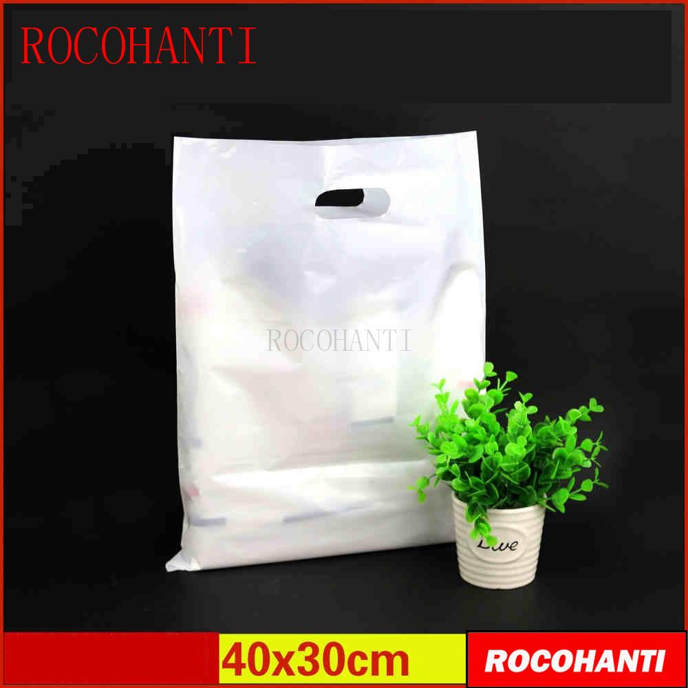 4e614a4ec4 100x Custom Plastic Bags Clothing Bag Custom LOGO Printed High Pressure PE  Bag Size 40   30cm White White Bags Insulated Bags From Dealbag