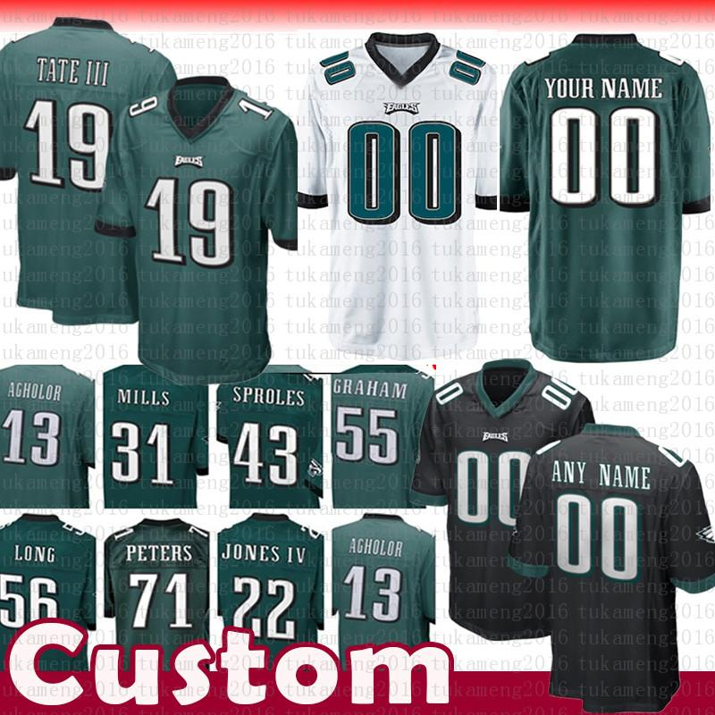 53994d3464b 2019 Custom Philadelphia 19 Golden Tate III 41 Ronald Darby 55 Brandon  Graham Jersey Eagles Jay Ajayi 59 Joe Walker 65 Lane Johnson 12 Cunningham  From ...