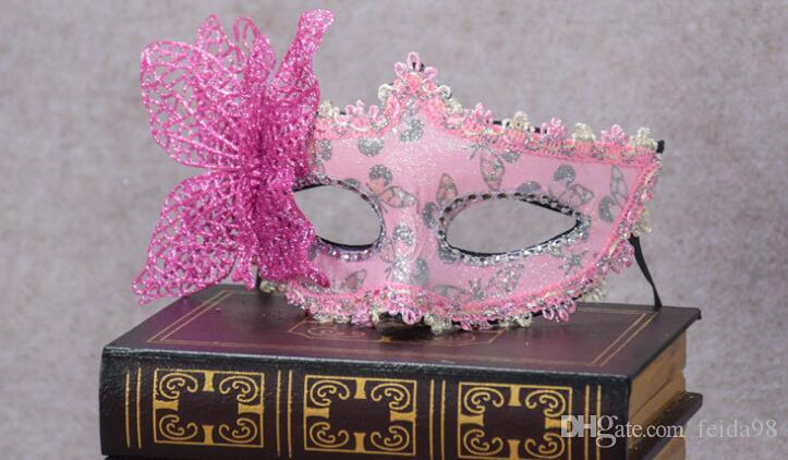 Halloween Party Princess mask Venice cloth painted eye flower butterfly party