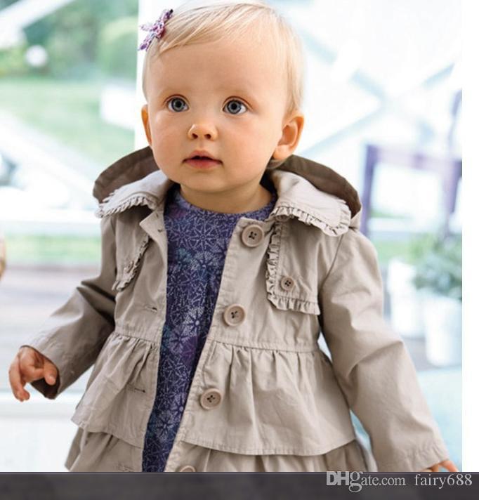 893945d1859a3 Acheter Vêtements Pour Enfants 2018 New Baby Toddler Filles Revers Ceinture  Coupe Vent Manteau Survêtement Veste Pour L hiver Ou L automne De  12.66 Du  ...