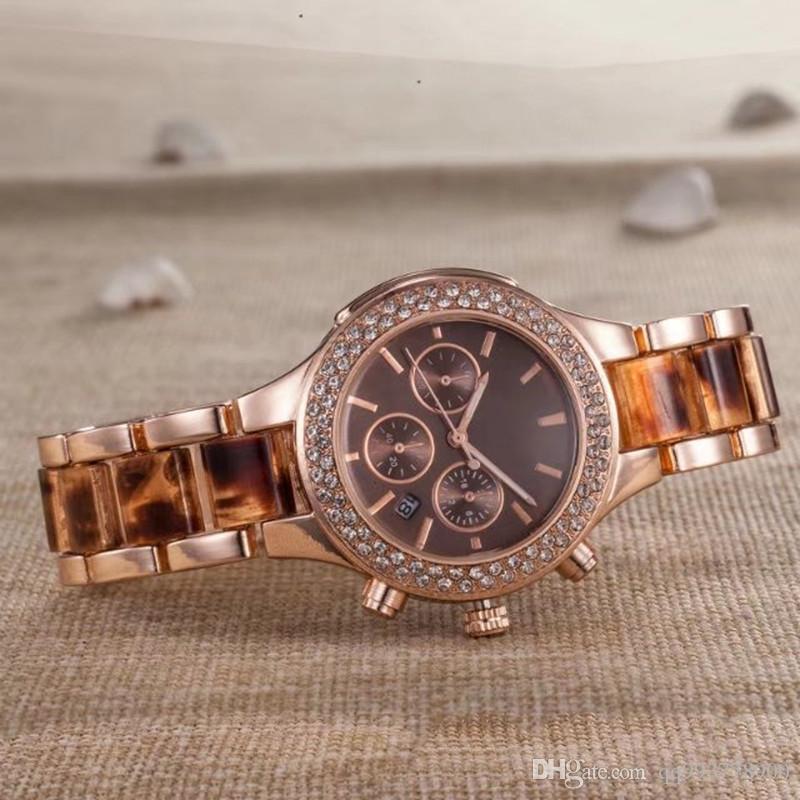 590d14512ea Compre 2018 Luxo Completa Relógio De Diamante Mulheres Moda Cerâmica  Pulseira De Ouro Pulseira De Aço Inoxidável Relógios De Pulso Das Senhoras  Relógio ...