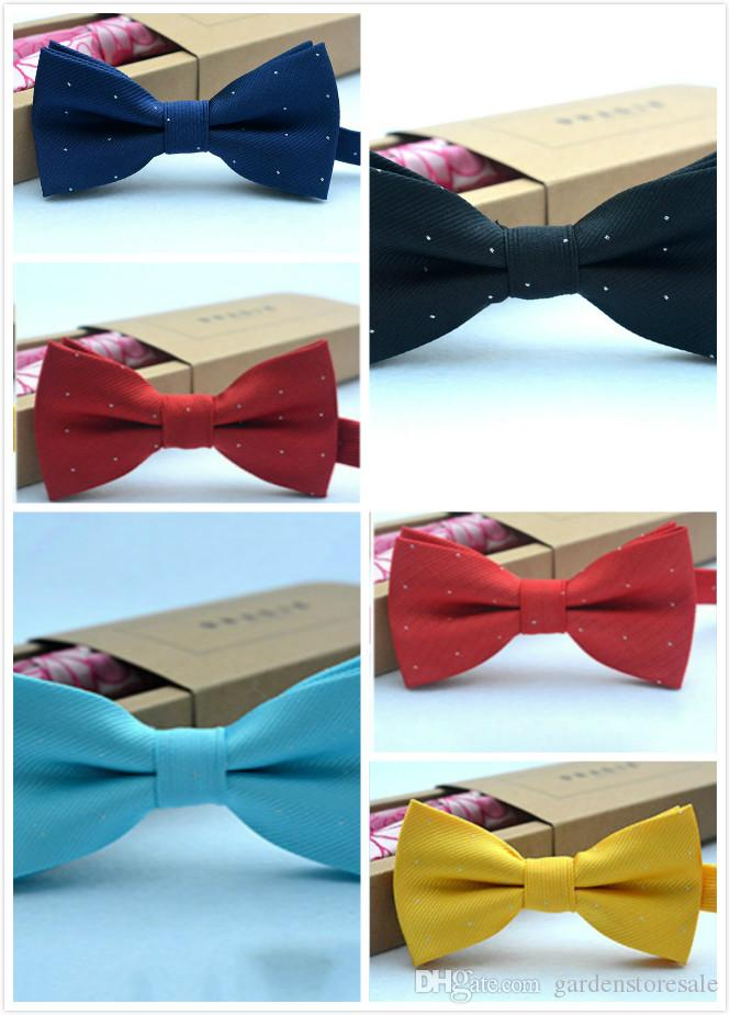 af6e39e4ad1b Children Bow Tie Baby Boy Kid Clothing Accessories Solid Color Gentleman  Shirt Neck Tie Bowknot Dot Boys Bow Ties Silk Ties From Gardenstoresale, ...