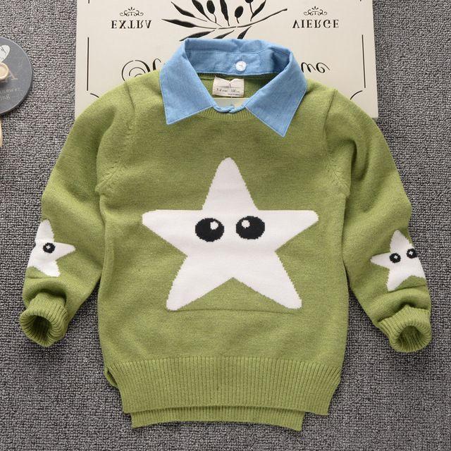 40426701d23c 2018 Autumn Winter New Shirt Collar Kids Boys Sweater Soft Cartoon ...
