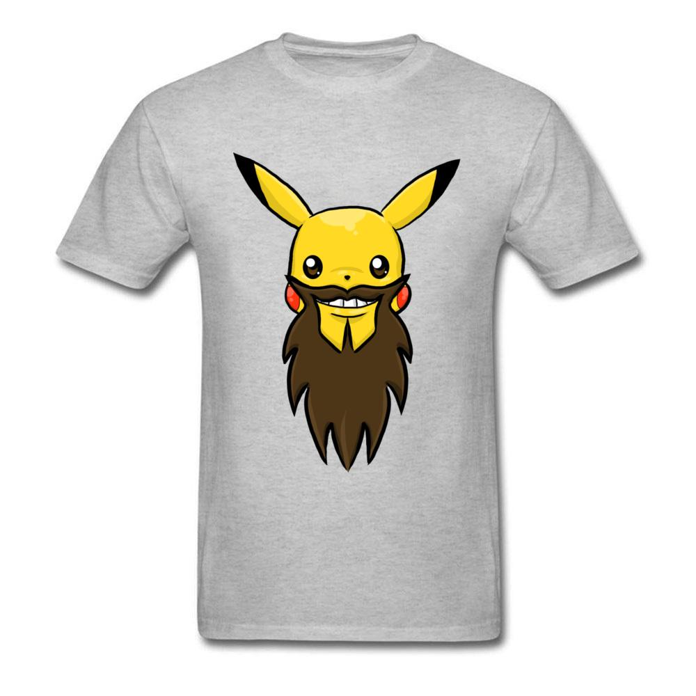 9c41590792b946 Happy Pika Beard 2018 Funny T Shirt Men Gift Tops Boyfriend Summer  Wholesale Discount Tee Pikachu Anime Grey T Shirts Kawaii T Shirt Nerd T  Shirts Design ...