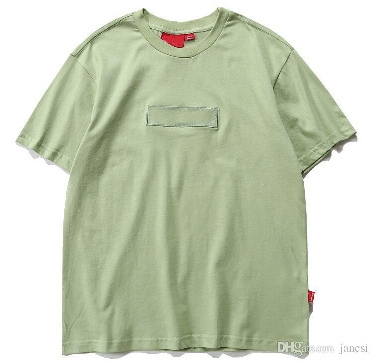 Summer new tshirt homme hip hop t-shirt men Embroidery box supprem t-shirt women skateboard tops tees white tshirts