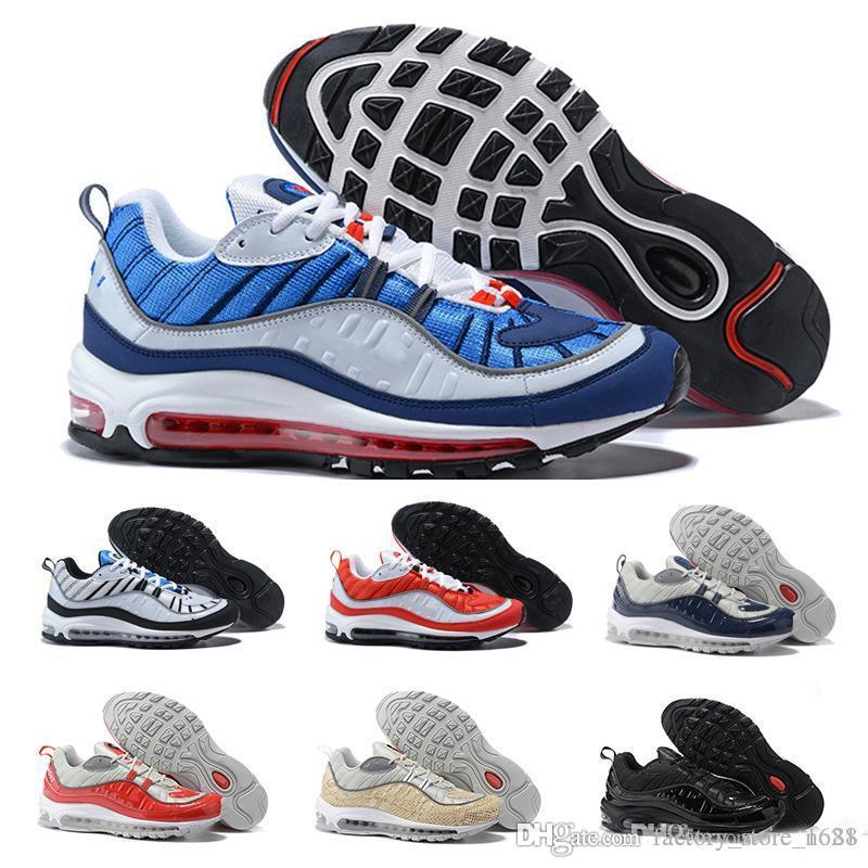 low priced 7d15f bce33 Acheter 2018 Original New Air Max 98 Hommes Chaussures De Course Sport En  Plein Air Baskets Marche Jogging Chaussures De Sport Baskets Taille 40 45  De  86.3 ...