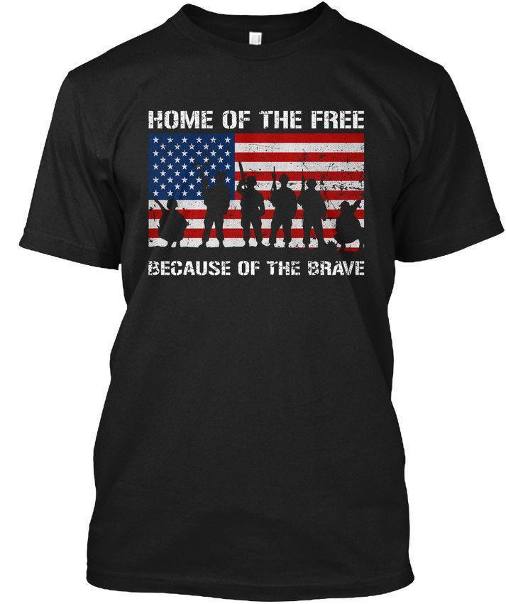 Home Of The Free Veterans Day Because Brave Hanes Tagless Tee T Shirt  Designer White Tee Shirts Cool T Shirts Buy Online From Amesion55 b81a090fb