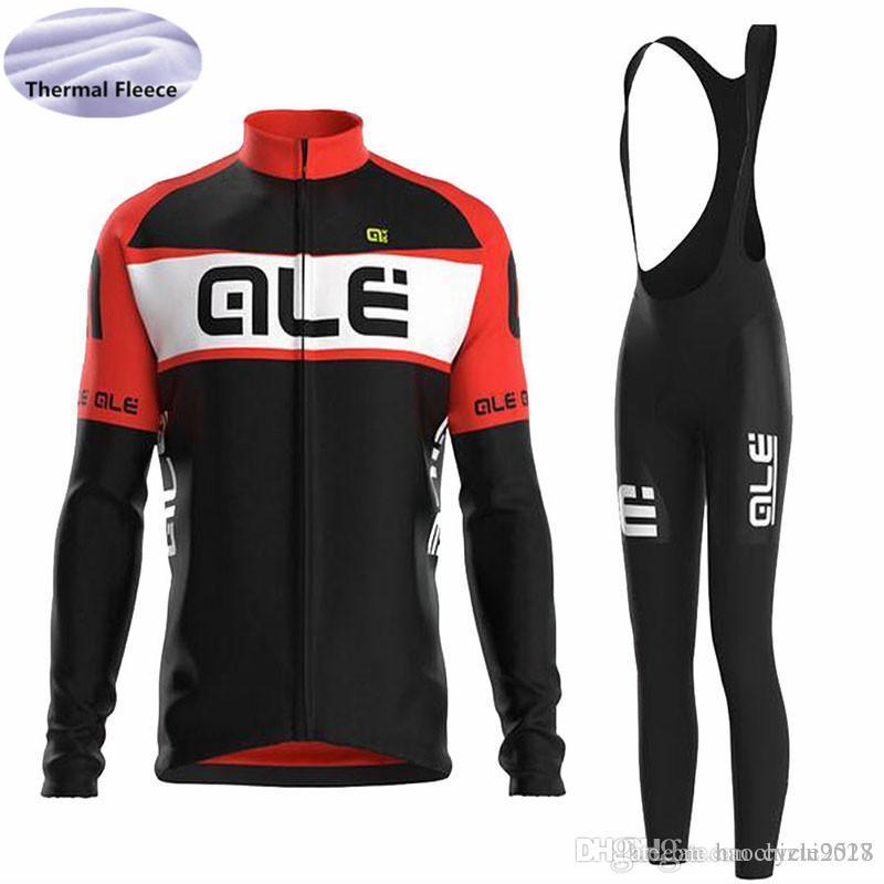 Triathlon ALE Men Cycling Jersey Set 2018 Pro Team Long Sleeve ... f24f13e44