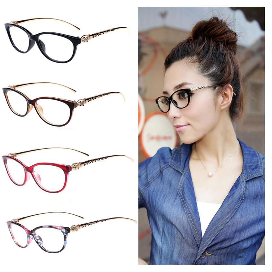 720d822b75 2019 Fashion Cheetah Earstems Glasses Frames Women Ladies Leopard  Decorative Reading Glasses Frame Eyeglasses No Degree From Jianyue16