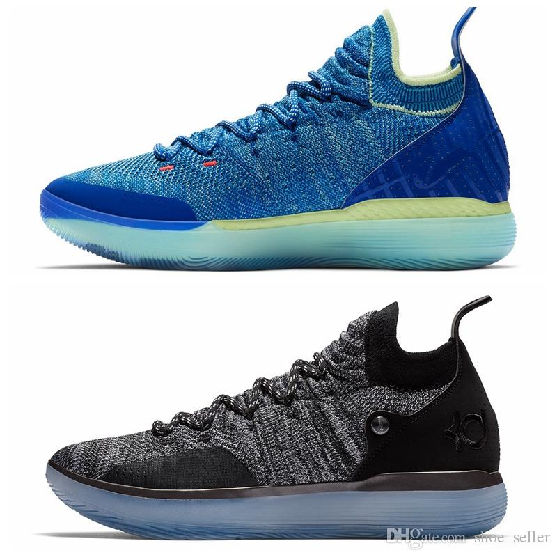 d5d577fd220b 2018 New Arrival KD XI 11 EP Oreo Ice Blue Sports Basketball Shoes For Top  Quality Mens Kevin Durant 11s Trainers Designer Sneakers US 40 46 Jordans  Shoes ...