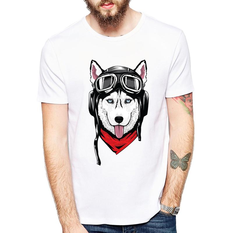 b36a867d Husky With Helmet Printed Men T Shirt Short Sleeve Casual T Shirt Hipster  Pocket Cute Siberian Husky / Chihuahua Tees Cool Tops Buy Funny Shirts  Interesting ...