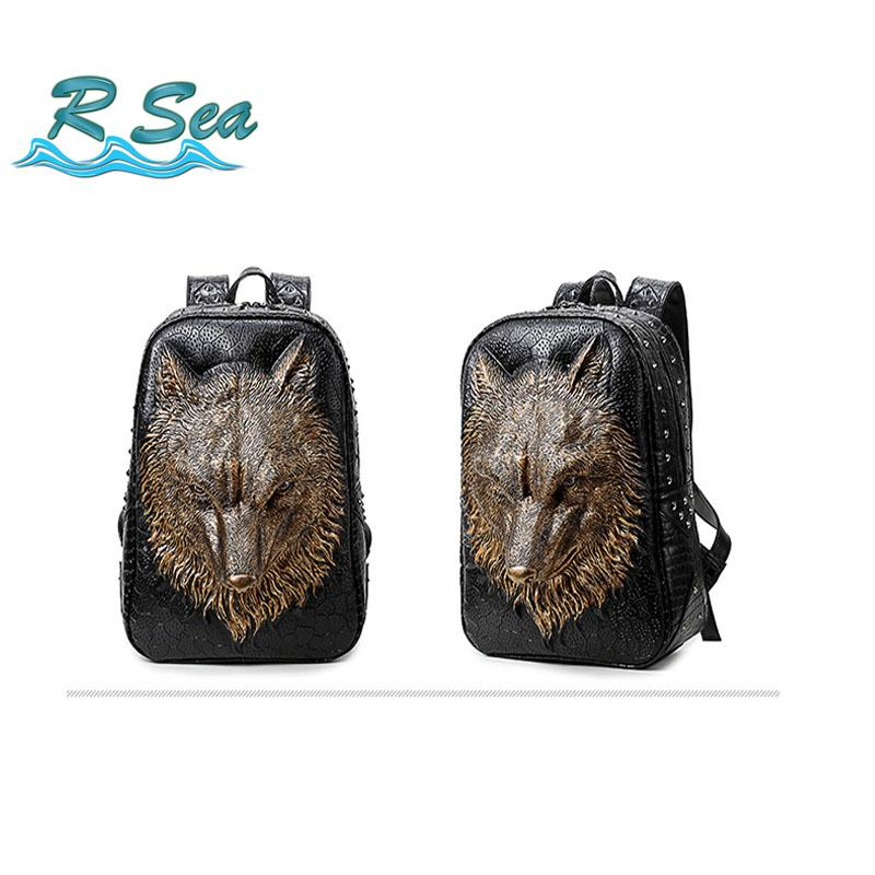 0a983eac411b Backpack Bag Fame Style Men And Women Casual Large Capacity Wolf Head Travel  Computer Bag Tide Book Hot Sale Small Backpack Backpack Brands From Lemmom