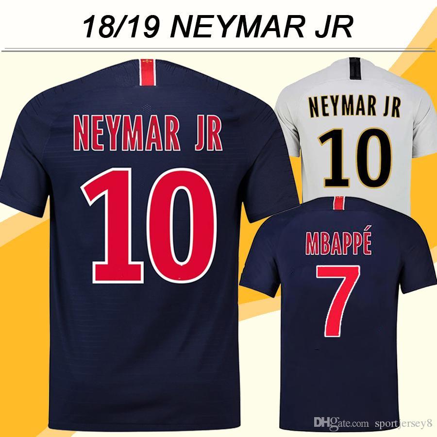 2018 19 PSG NEYMAR JR Jersey De Fútbol Nuevo CAVANI MBAPPE Inicio Fútbol  Camisetas 18 19 DI MARIA T.SILVA Short Jerseys Uniformes Para Hombre  Tailandia Por ... eaaee6750a5