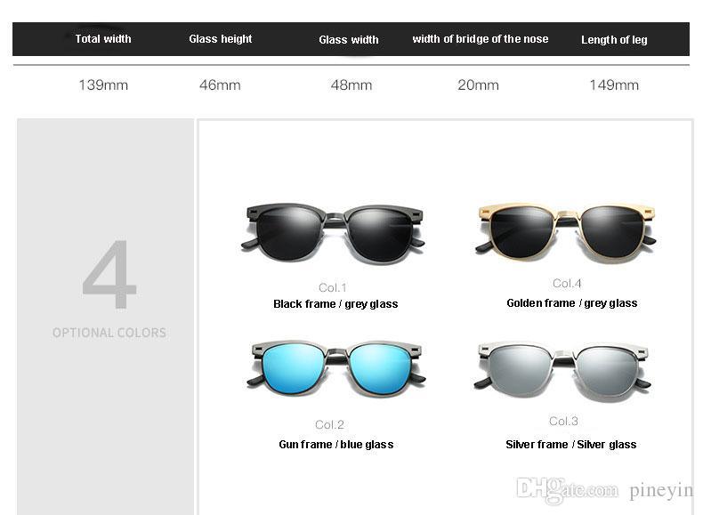 Haute qualité UV400 lunettes de soleil homme lunettes de soleil polarisées hommes conduite lentille lunettes de soleil polarisées en métal 4 couleurs pour le choix avec emballage NE880