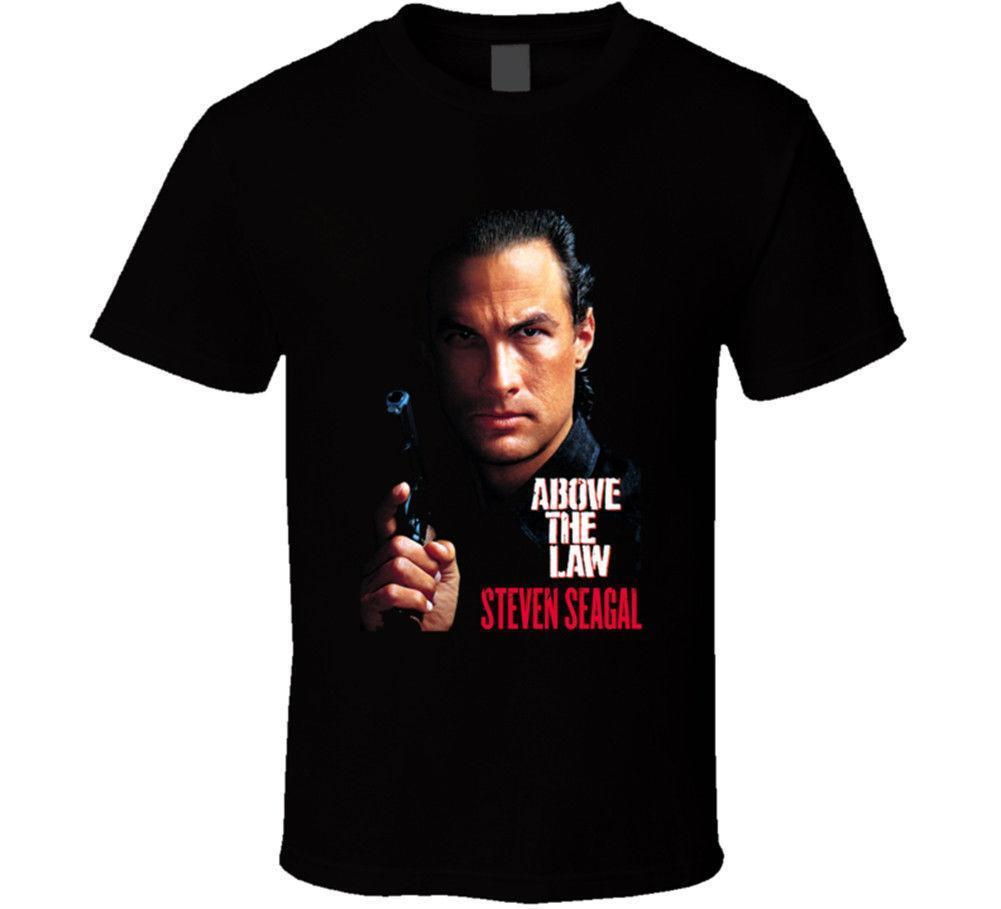 Above The Law Steven Seagal Action Movie Men s Black T-Shirts