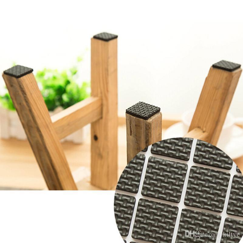 Incroyable Square Multifunction Black Self Adhesive Furniture Leg Table Chair Sofa  Feet Floor Non Slip Mat Sticky Pad Protector Chair Leg Protectors Chair Leg  Floor ...