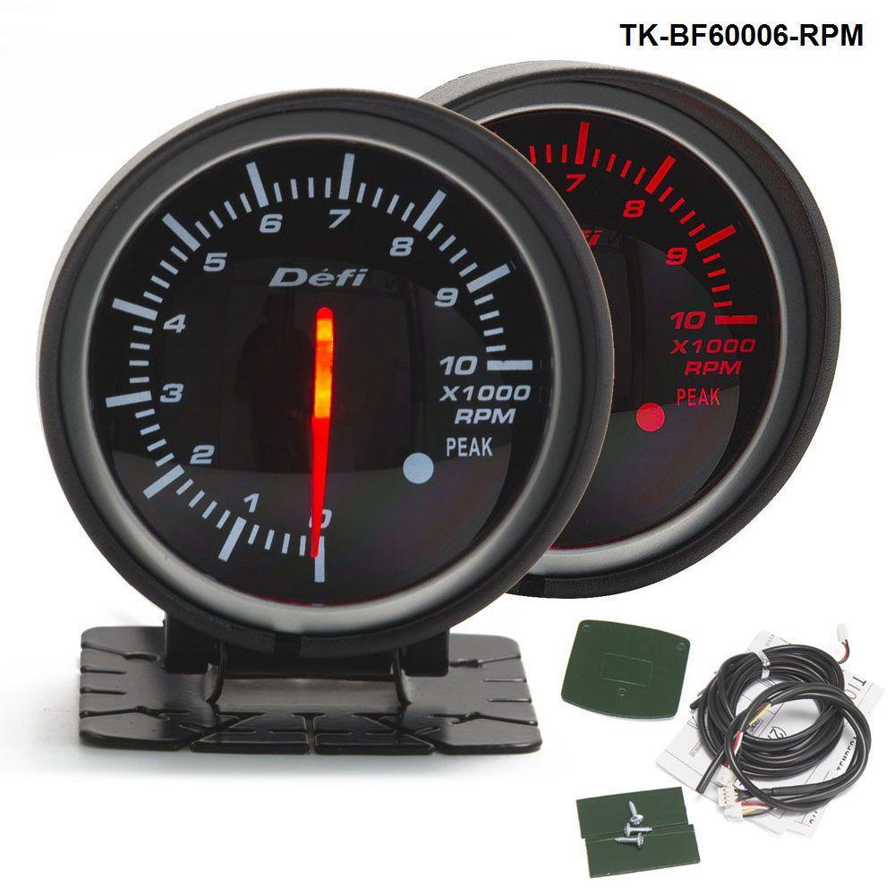 2019 defi 60mm led tachometer gauge high quality auto car motor gauge with red white light tk. Black Bedroom Furniture Sets. Home Design Ideas