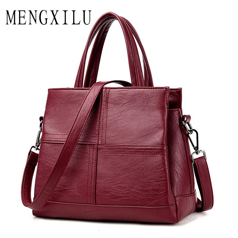 fabef746585b Fashion Leather Women Bags Handbags Women Famous Brands Luxury Designer  Plaid Sholder Bag Ladies Casual Tote Sac A Main Womens Purses Women Bags  From ...