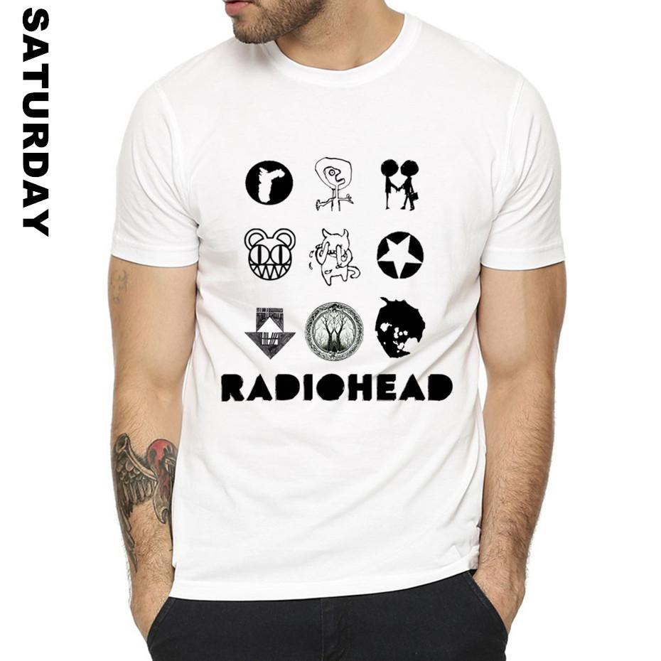 British Rock Band Radiohead Design Funny T Shirt for Men and Women,Unisex  T-Shirt Men s Streewear