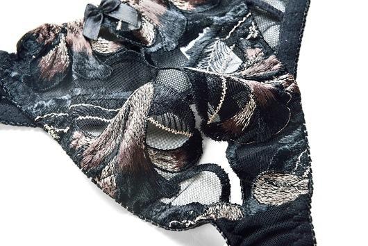 FJ228A Amallbeiby Open Bra Crotchless Lingerie Exquisite Embroidery Donna Sexy Underwear Set Lenceria Erotica Sujetador Encaje