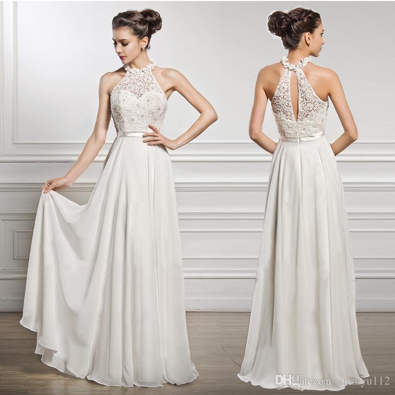 Mingli Tengda 2018 Halter Chiffon Long Dresses Evening Elegant Lace Beads Sexy  Evening Ball Gown Special Occasion Dresses Vestidos De Fiesta Formal Dress  ... 77d75c2579de