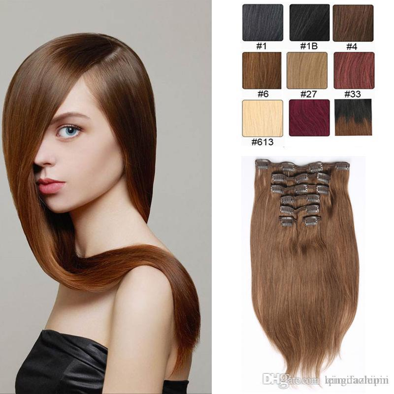 Resika Women Fashion Full Head Clip In On Hair Extensions 22clips Colored  Straight Crochet Human Hair Extensions Hair Extensions Uk Remy Hair  Extensions Uk ... 874f5971a6