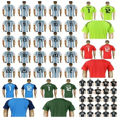 official store bc13f 08dae 2018 russia world cup soccer jersey argentina home away goalkeeper shirt