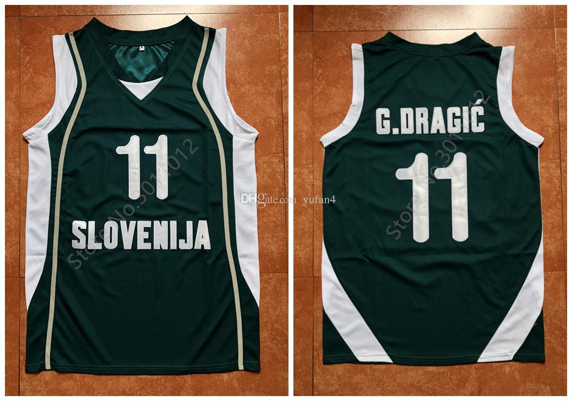 quality design 09bdd 251f0 #11 Goran Dragic Team Slovenija Retro Classic Basketball Jersey Mens  Stitched Custom Number and name Jerseys