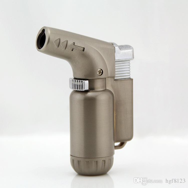 Creative pistolet butane gaz torche briquets extincteur-Type rechargeable métal coupe-vent allume-cigare torche feu barbecue outils.