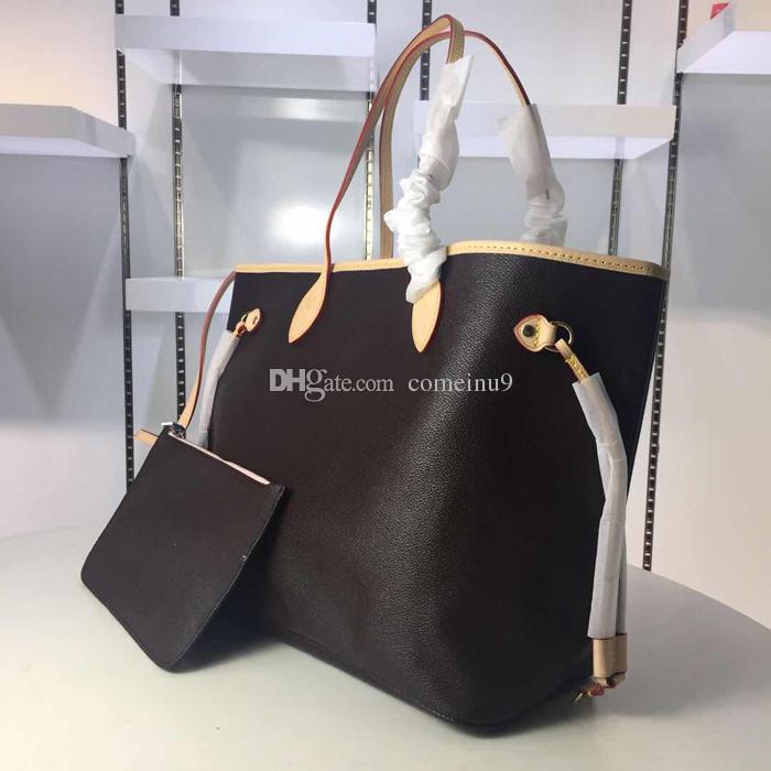 Mulheres bolsa de ombro com uma carteira de embreagem 40996 Genuine Leather Tote Shopping Full Colors Interior 40995 Bom Preço