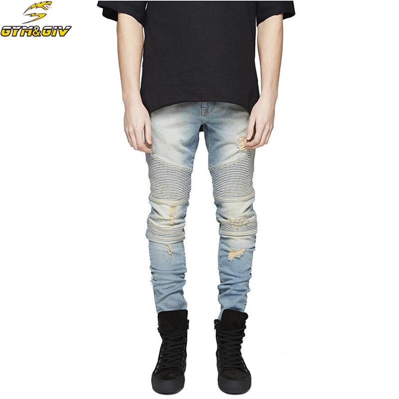 6447fb665c7 2019 NEW Men Jeans Stretch Destroyed Ripped Design Fashion Ankle Zipper  Skinny Jeans For Men From Regine, $41.85 | DHgate.Com