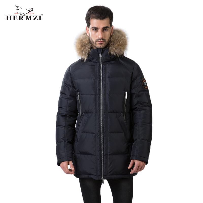 Winterjas Heren Parka.2019 Hermzi 2018 Winter Coat Men Parka Cotton Padded Coat Winter
