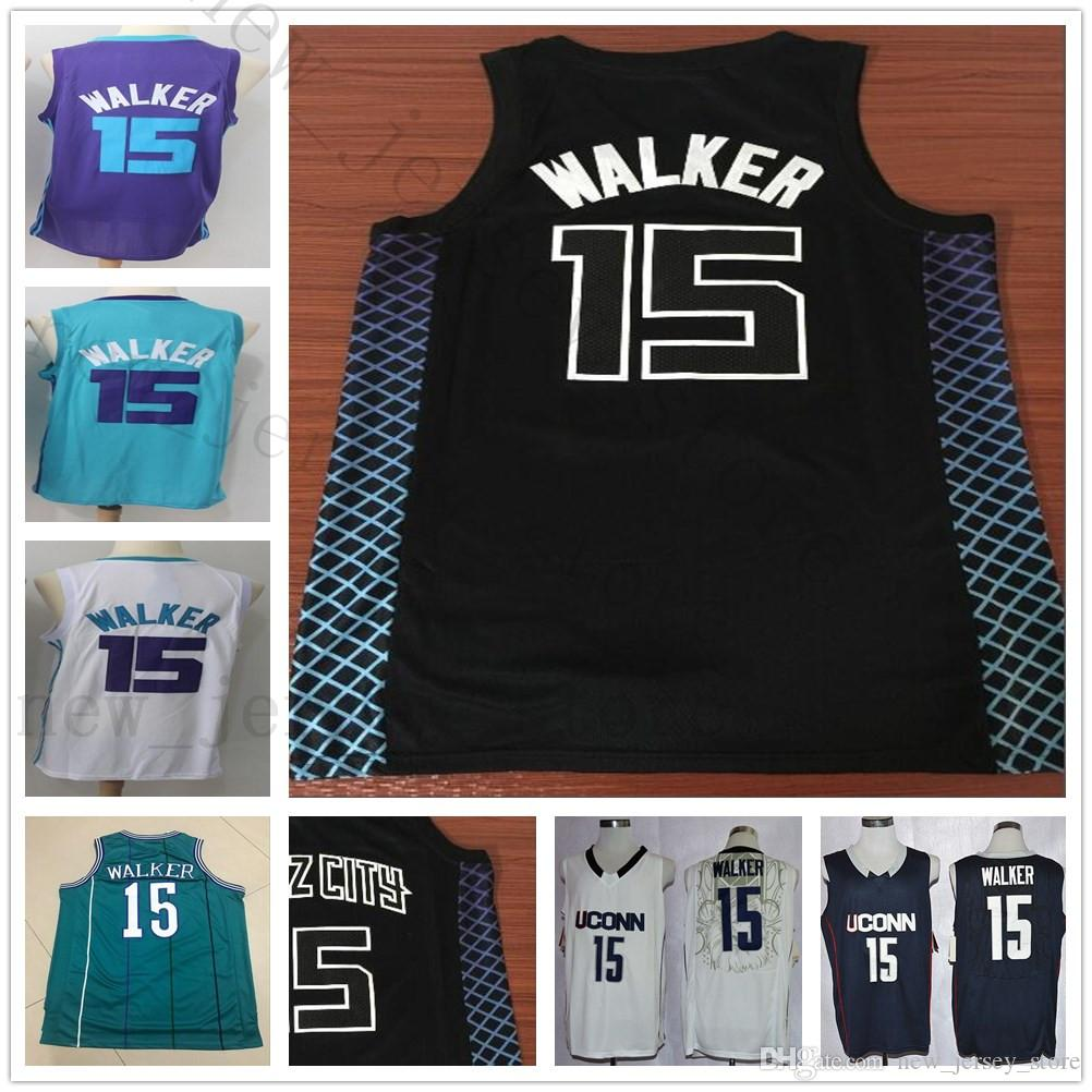 d7d65ce370bc ... sale college the city edition black 15 kemba walker jersey home away  green purple white cheap