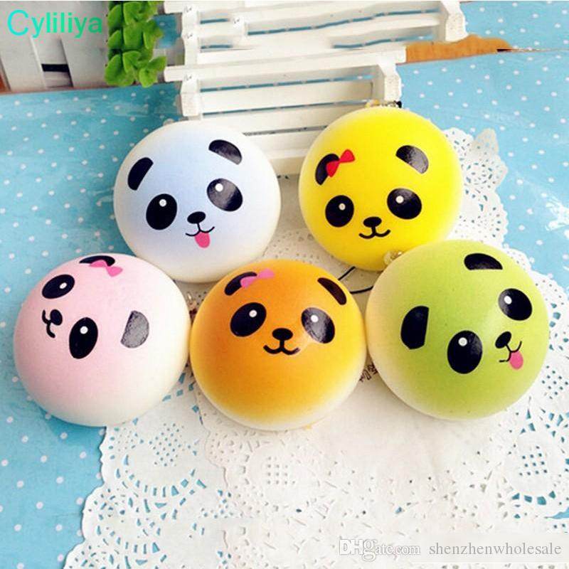 New Squishy Straps Cell Phone Charms Soft Key Chain Bread Buns Fashion Panda Phone Straps Stress relief Toys for Relax