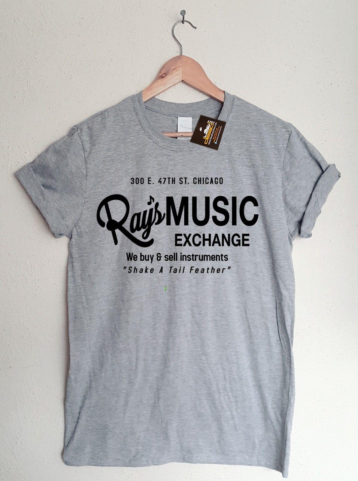3537843f Blues Brothers Inspired Ray's Music Exchange T-shirt - 80's Film T-shirt  Tee Funny free shipping Casual tee